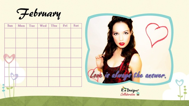 February Love for Pin Up Calendar