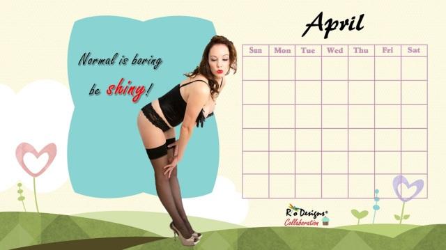 Love for Pin Up April Calendar